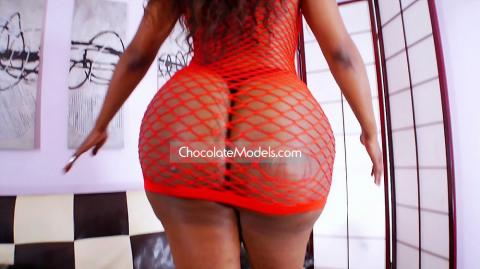 Nia Bangzz June 2015 Red Fishnet Dress