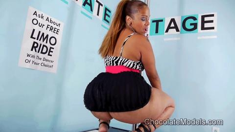 Scarlett - October 2018 Black Skirt Zebra Top Preview Video