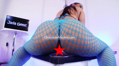 Jada Gemz - October 2018 Blue Fishnets Preview Video