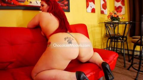 Nat Foxx December 2015 Black Bikini Red Couch Preview Video