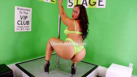 Jada Gemz December 2015 Dance Set Green Lingerie Preview Video
