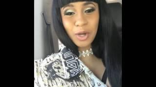 Cardi B Ranting and Talking Crazy Shit On Instagram